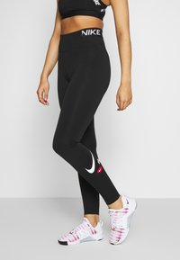Nike Performance - ONE ICON CLASH - Legging - black/black/white - 0