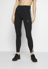 Nike Performance - FAST - Leggings - black/reflective silver - 0
