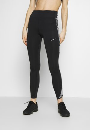 FAST - Tights - black/reflective silver