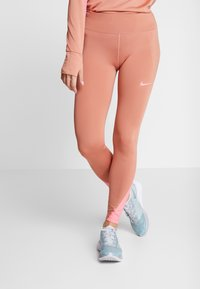 Nike Performance - FAST RUNWAY - Leggings - terra blush/digital pink - 0