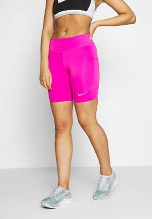 FAST SHORT - Leggings - fire pink/reflective silver