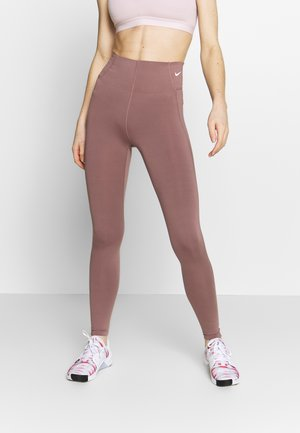 Leggings - smokey mauve/white