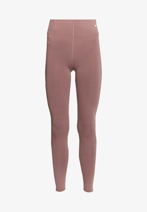 Tights - smokey mauve/white