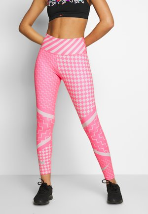 Tights - digital pink/reflective silver