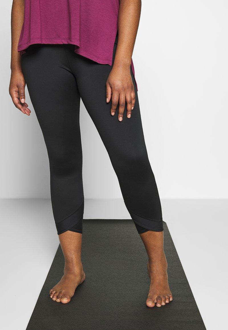 Nike Performance - WRAP PLUS - Tights - black/smoke grey