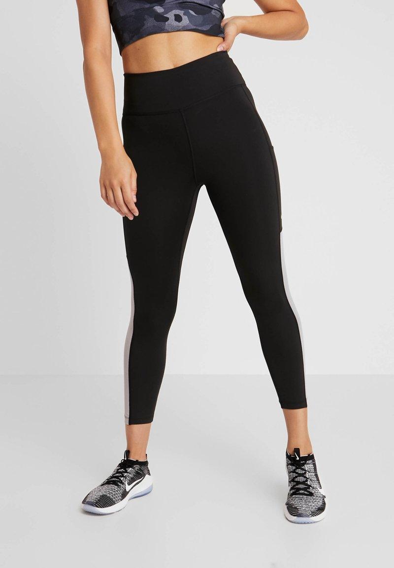 Nike Performance - ONE CROP  - Tights - black/atmosphere grey/white
