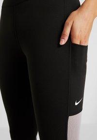 Nike Performance - ONE CROP  - Tights - black/atmosphere grey/white - 6
