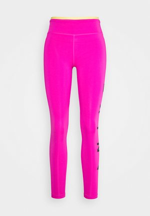 ONE 7/8  - Leggings - fire pink/topaz gold/black