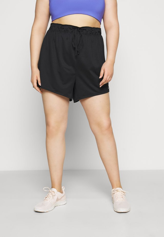 PLUS - Sports shorts - black/particle grey