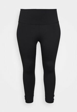 YOGA RUCHE 7/8 TIGHT PLUS - 3/4 sportovní kalhoty - black/dark smoke grey