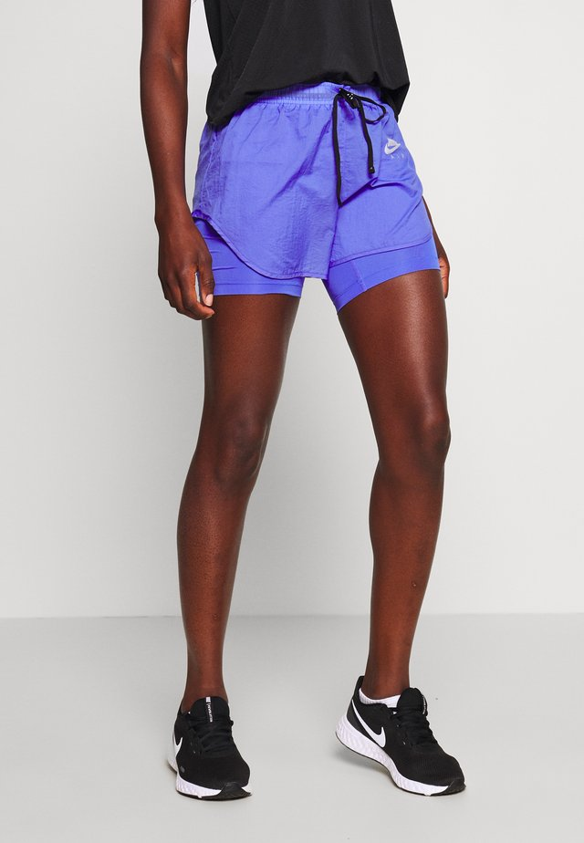 2IN1 SHORT - Träningsshorts - sapphire/light thistle/reflective silv