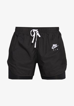 2IN1 SHORT - Korte broeken - black/white/reflective silver