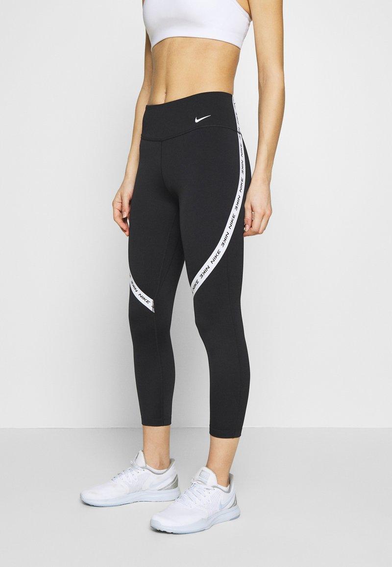 Nike Performance - ONE CROP - Leggings - black/white