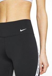 Nike Performance - ONE CROP - Leggings - black/white - 5