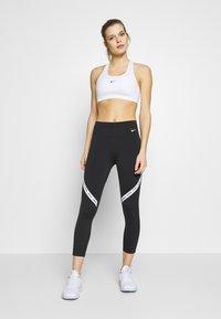 Nike Performance - ONE CROP - Leggings - black/white - 1