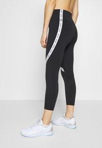Nike Performance - ONE CROP - Leggings - black/white - 3