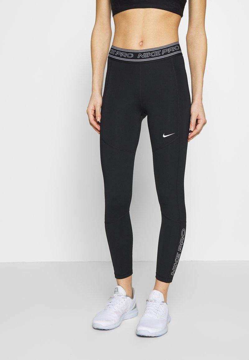 Nike Performance - TIGHT 7/8  - Leggings - black/white