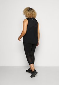 Nike Performance - FAST CROP PLUS - Tights - black/reflective silver - 2