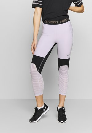 CROP - Legging - infinite lilac/black/metallic silver