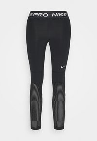 Nike Performance - CROP - Leggings - black/metallic silver - 4