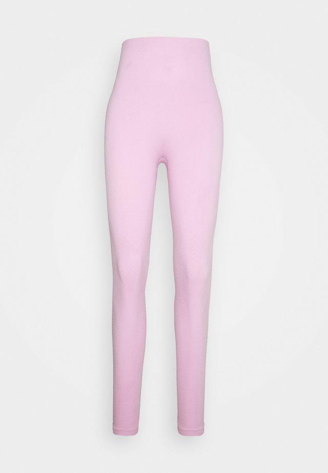 SEAMLESS 7/8 - Legging - light arctic pink/white