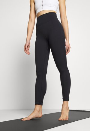SEAMLESS 7/8 - Tights - black/smoke grey