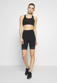 Nike Performance - CITY RUN - Tights - black/university red/white/reflective black - 1