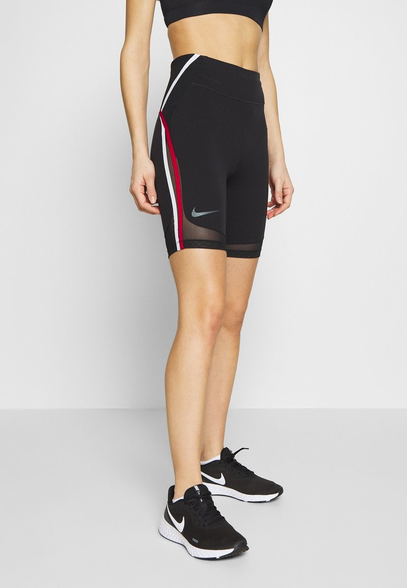 Nike Performance - CITY RUN - Tights - black/university red/white/reflective black