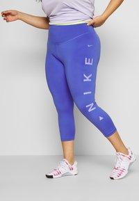Nike Performance - 3/4 sports trousers - sapphire/lemon/light thistle - 0