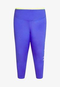 Nike Performance - 3/4 sports trousers - sapphire/lemon/light thistle - 4
