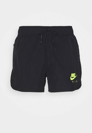 AIR SHORT - Sports shorts - black/black/volt