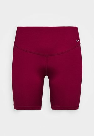 ONE SHORT PLUS - Legging - dark beetroot/white