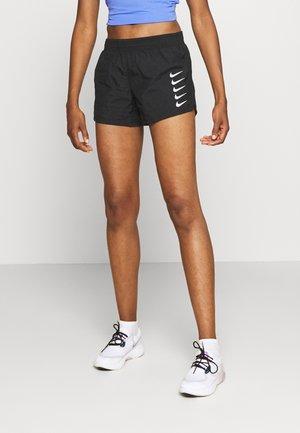 RUN SHORT - Sports shorts - black/white