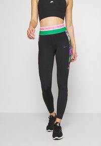 Nike Performance - Tights - black/bright crimson/dark smoke grey - 0