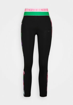Leggings - black/bright crimson/dark smoke grey