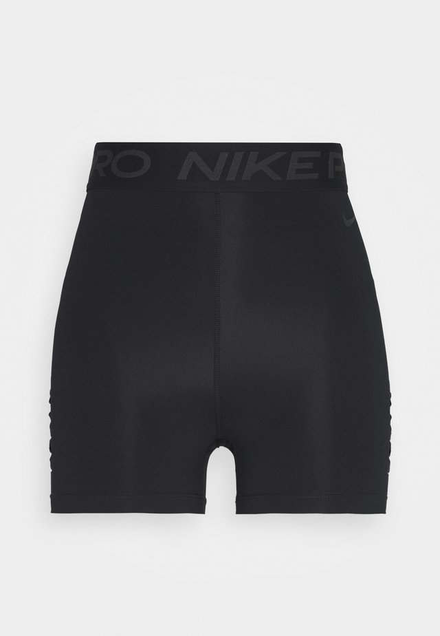 SHORT HI RISE - Tights - black/dark smoke grey