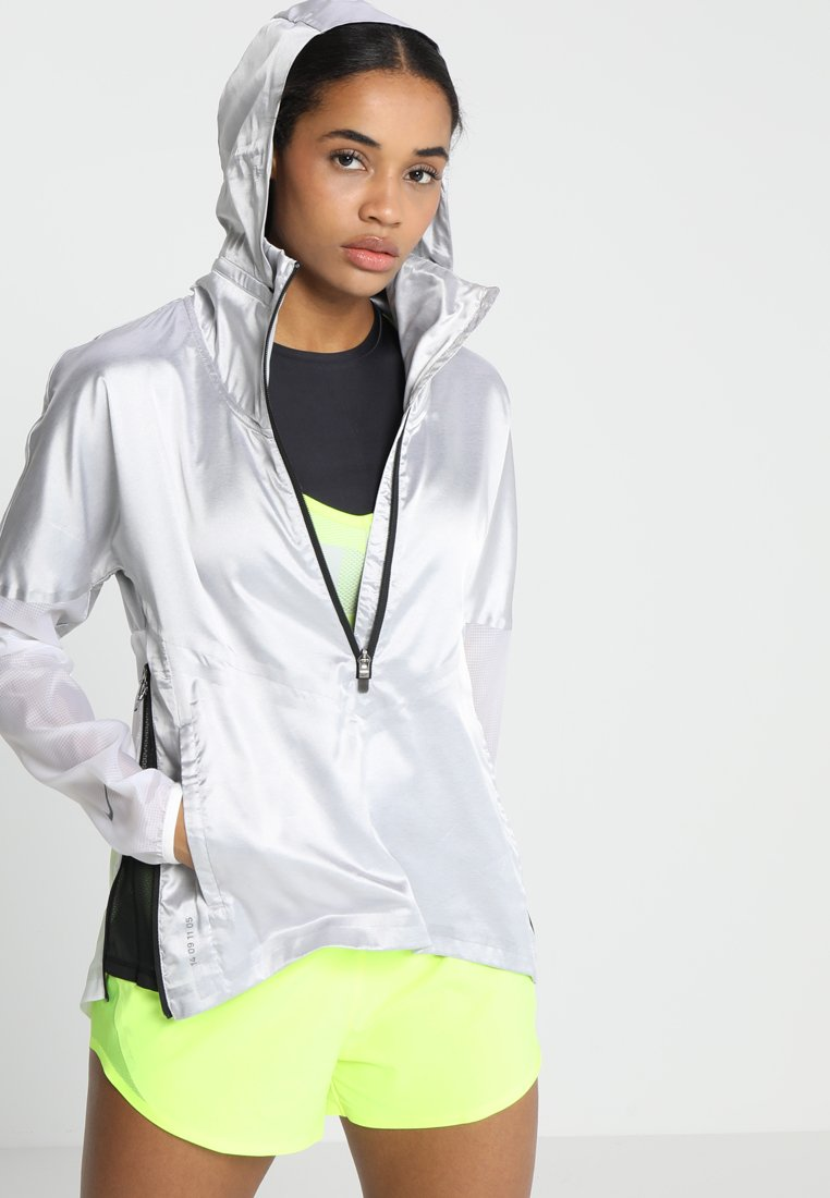 Nike Performance - TECH PACK RUNNING JACKET - Løperjakke - gunsmoke/white/black