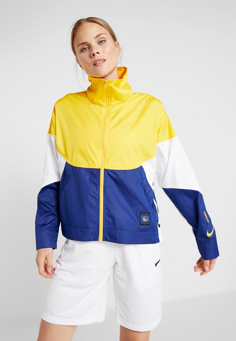 Nike Performance - NBA GOLDEN STATE WARRIORS WOMENS JACKET - Trainingsjacke - amarillo/rush blue/white