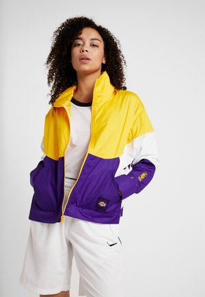 NBA LA LAKERS WOMENS JACKET - Chaqueta de entrenamiento - amarillo/field purple/white