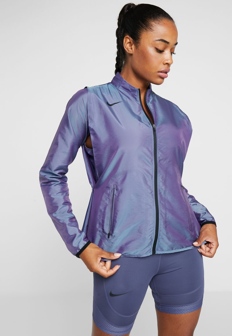 Nike Performance - AIR - Veste de running - voltage purple/light aqua/electric green/black