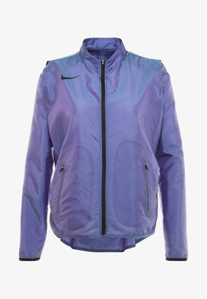 AIR - Kurtka do biegania - voltage purple/light aqua/electric green/black