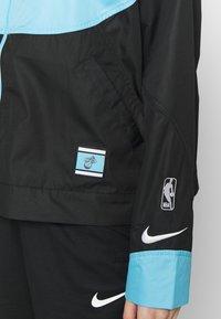Nike Performance - NBA MIAMI HEAT CITY EDITION WOMENS SNAP JACKET - Verryttelytakki - blue gale /black /laser fuchsia - 7