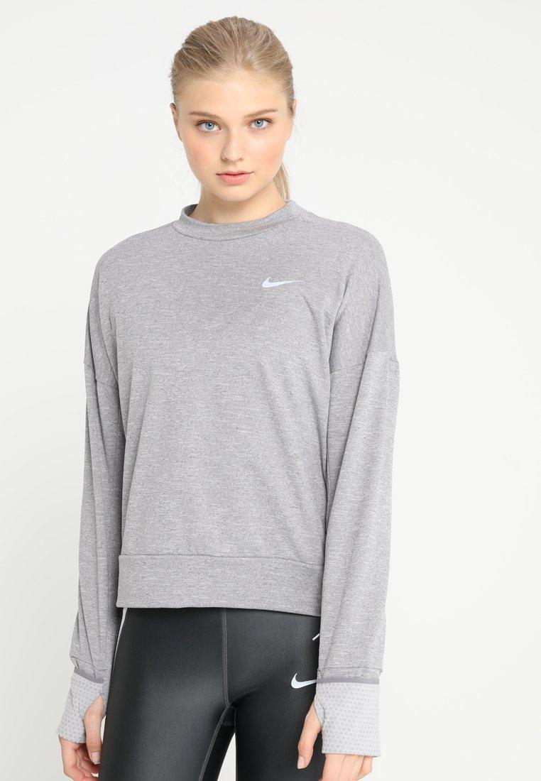 Nike Performance - THERMASPHERE CREW 2.0 - Sweatshirts - gunsmoke/heather/silver