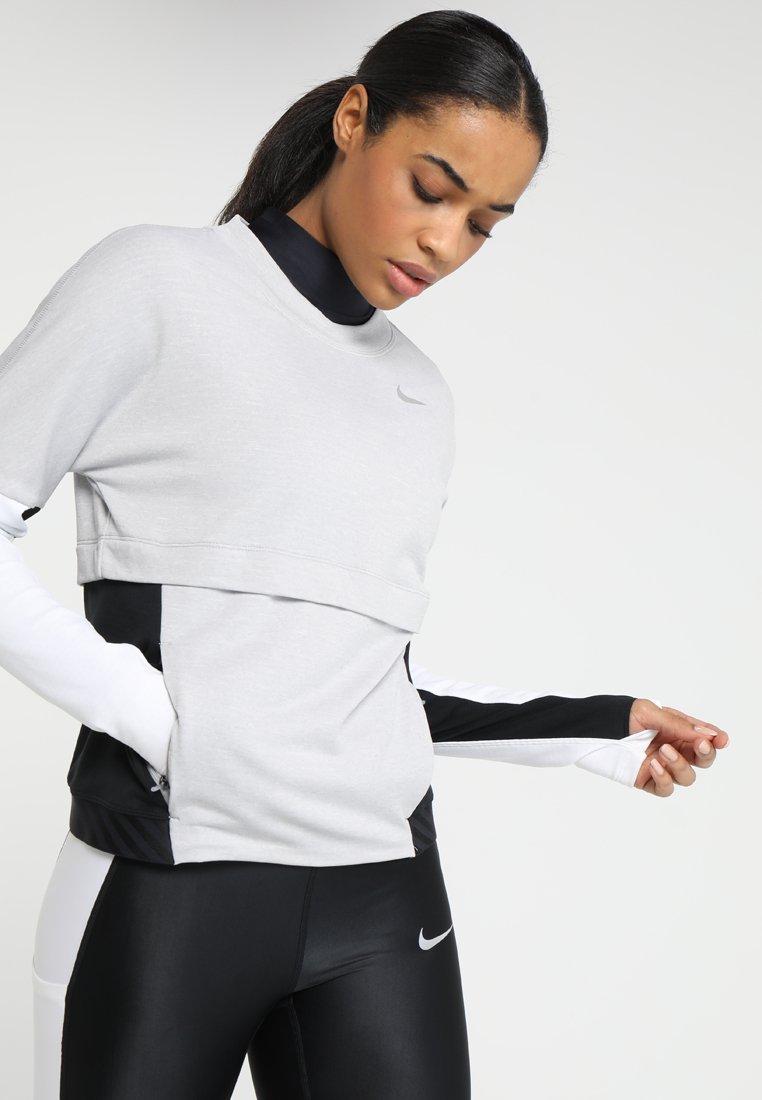 Nike Performance - ICON CLASH THERMA SPHERE CREW - Sweatshirt - atmosphere grey/black/white/silver/heather