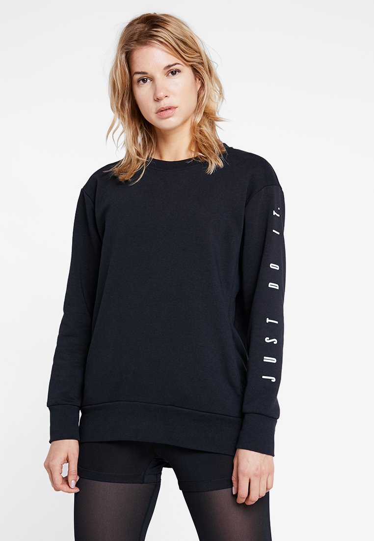 Nike Performance - DRY CREW - Sweatshirt - black/white