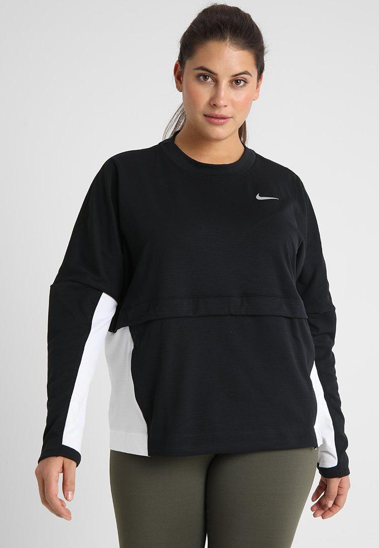 Nike Performance - PLUS - Sudadera - black/white/reflective silver