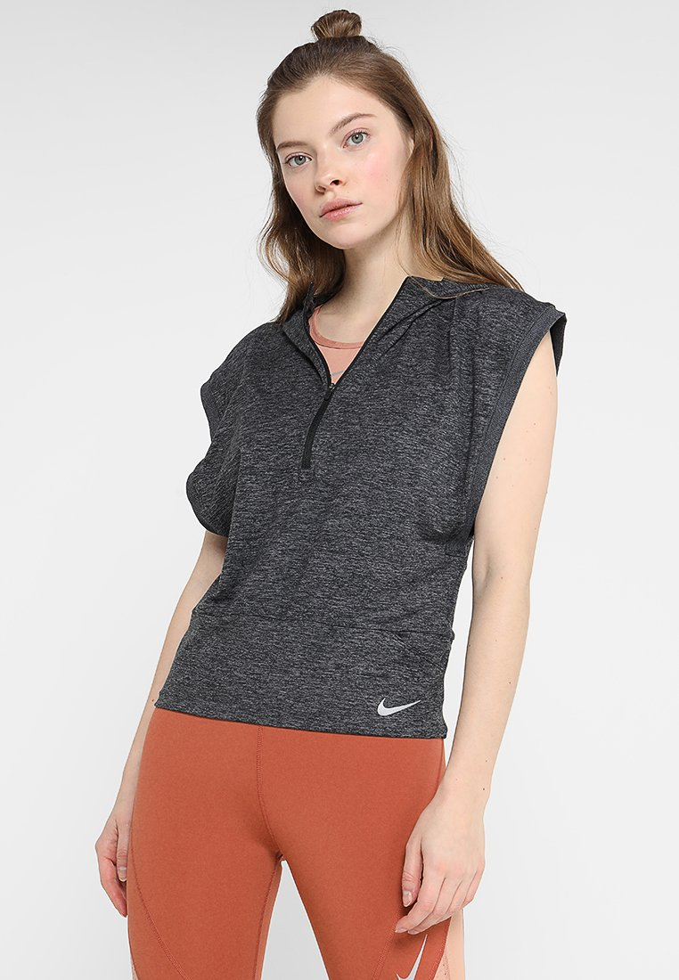 Nike Performance - SURF - T-Shirt print - black/thunder grey/heather/reflective silver