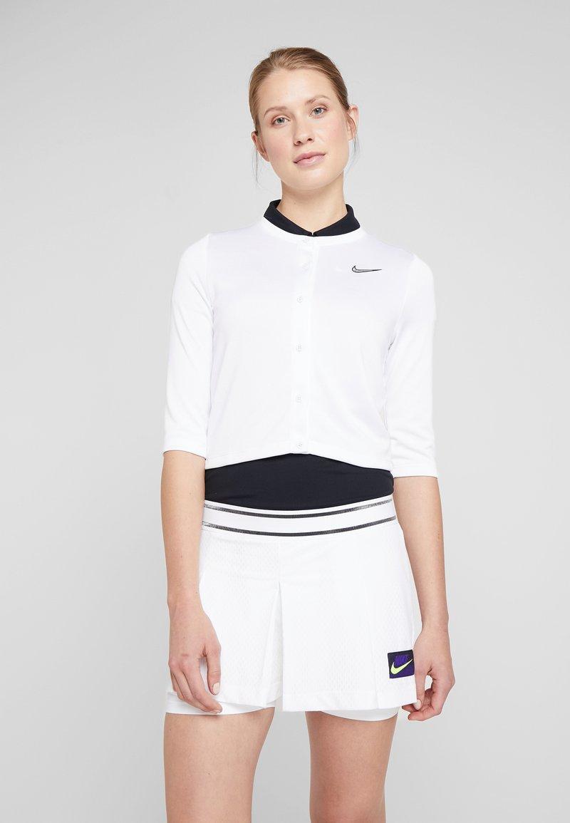 Nike Performance - Zip-up hoodie - white/black