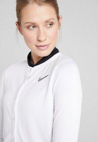 Nike Performance - Zip-up hoodie - white/black - 5
