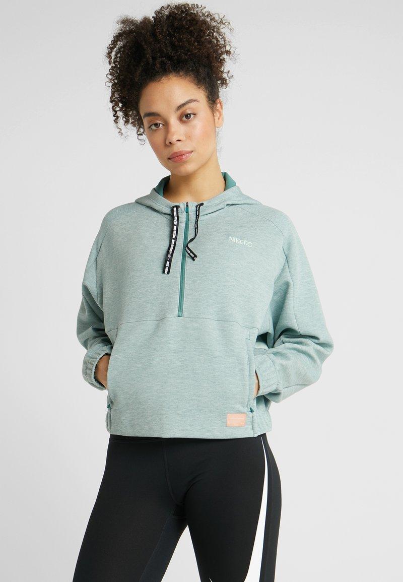 Nike Performance - DRY HOODIE  - Bluza z kapturem - bicoastal/heather/pistachio frost